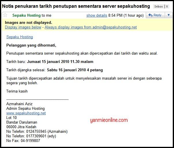 Email dari Sepaku Hosting