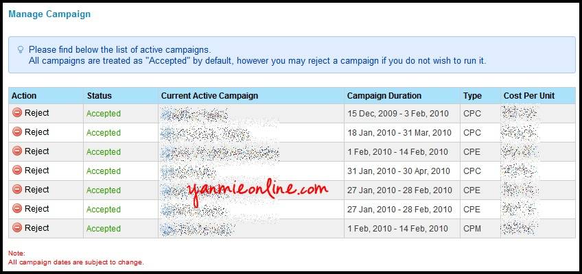 Ads Campaign Innity