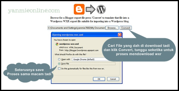 Convert blogger ke wordpress