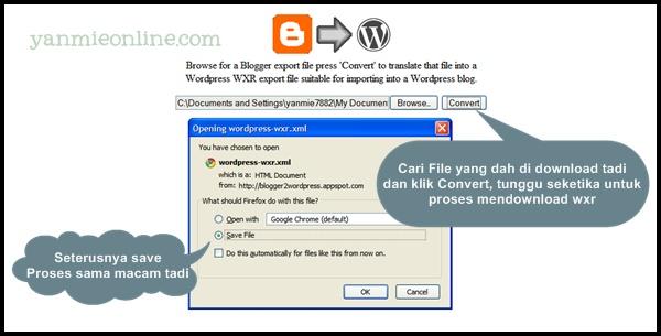 Convert blogger ke wordpress