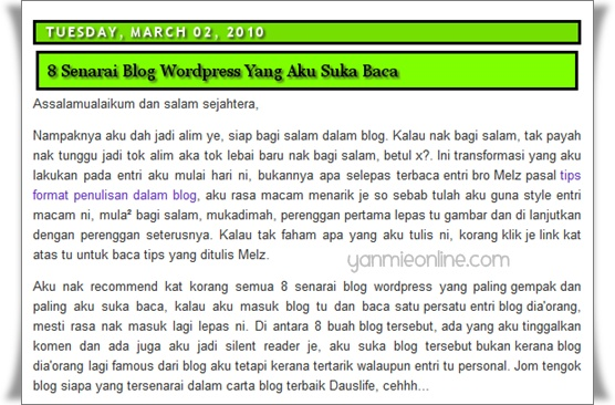 review2 Blog hijau ini di review