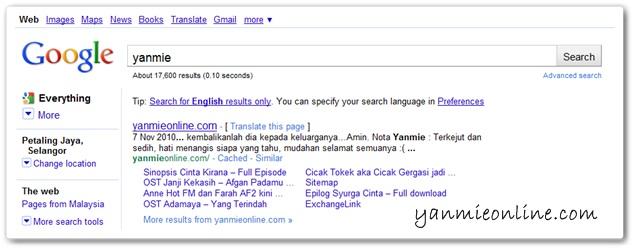 yanmie di google