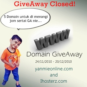 giveaway closed