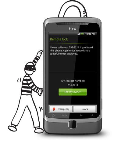 htc desire z remote lock