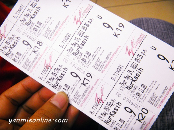 tiket nur kasih the movie
