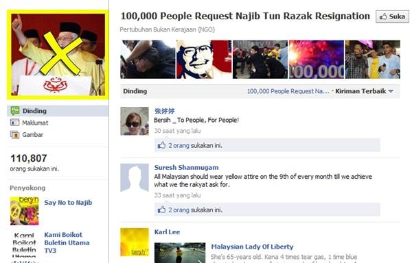 100,000 People Request Najib Tun Razak Resignation