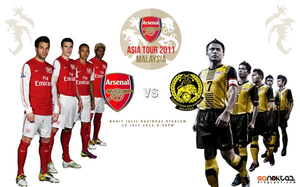 Malaysia vs Arsenal 2011