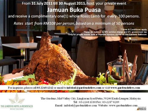 gardenshotel buffet ramadhan