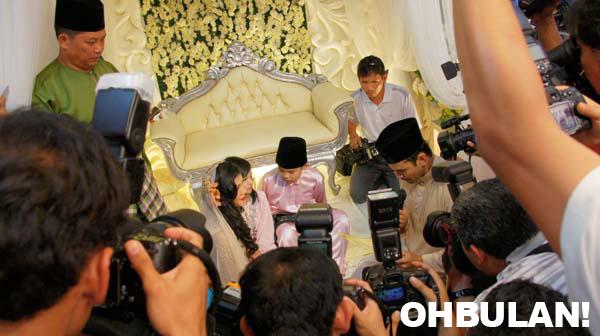 gambar perkahwinan memey dan norman
