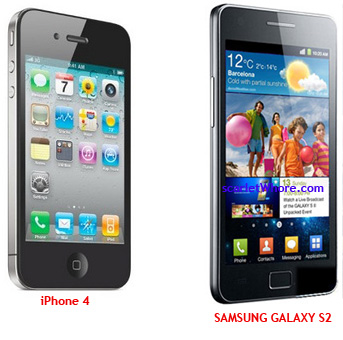 samsung galaxy s2 vs iphone4