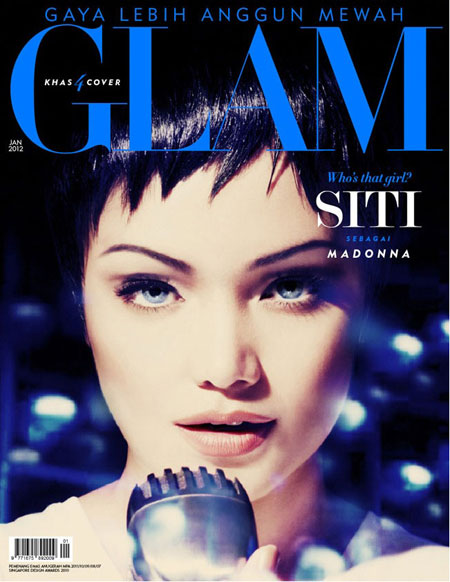Gambar Dato Siti Nurhaliza Dalam Cover Majalah Glam Isu Januari 2012