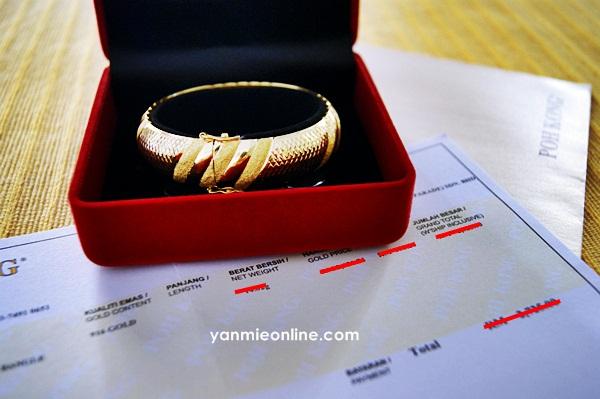 gelang tangan emas