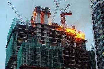 bangunan terbakar di sekitar kl sentral