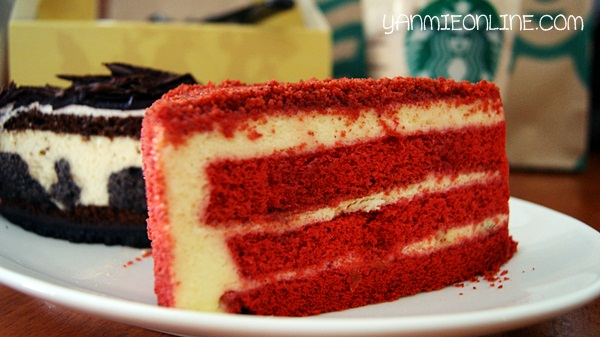 kek red velvet starbuck cafe