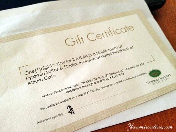 gift ceertificate