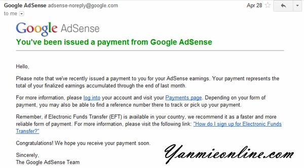 Cashout Adsense