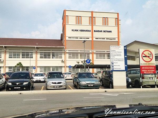 klinik kesihatan bandar botanik klang
