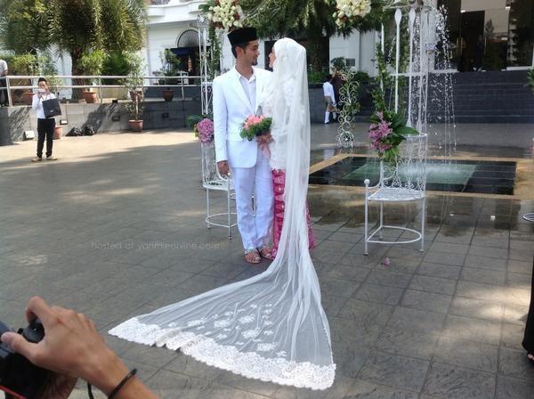 Gambar perkahwinan Diana Danielle Dan Farid Kamil