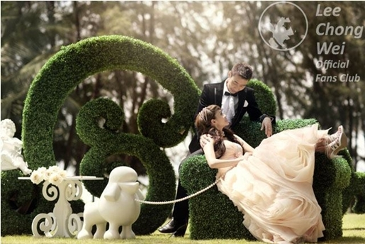 gambar pra perkahwinan datuk lee chong wei