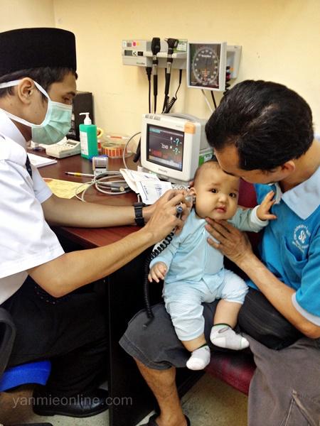 Baby Irfan demam