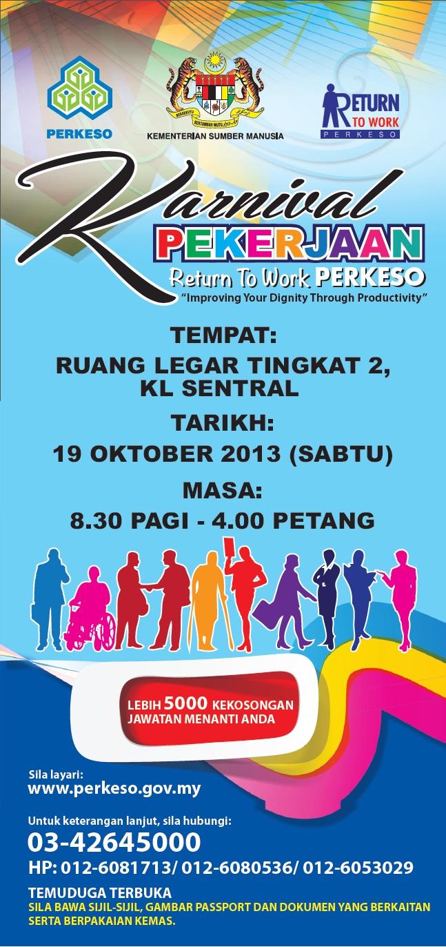 Karnival Pekerjaan PERKESO 2013 - Return To Work