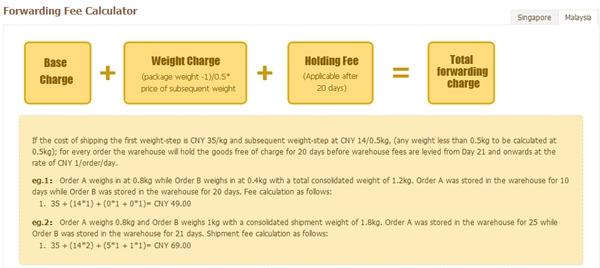 forwarding fees calculator1