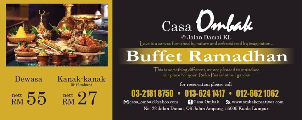 buffet ramadhan casa ombak