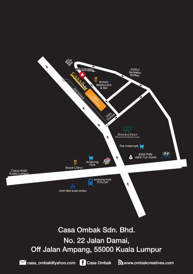 peta casa ombak creative buffet ramadhan