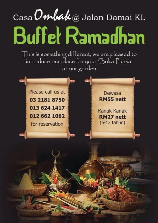 tempahan buffet ramadhan casa ombak