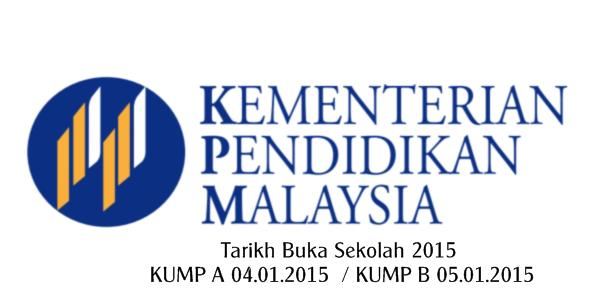 tarikh buka sekolah 2015