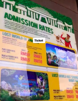 harga tiket lost world of tambun