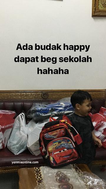 beg sekolah budak